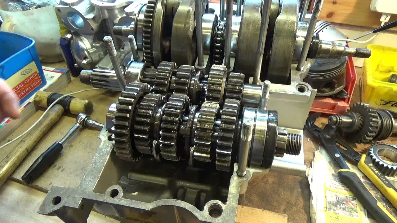 Yamaha xs650 gearbox gear selection youtube for Yamaha yxz gear reduction kit
