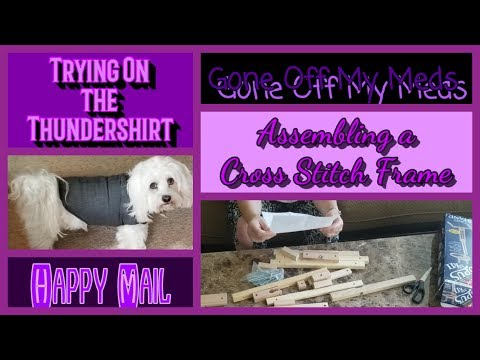 happy-mail-~-assembling-a-cross-stitch-stand-~-trying-on-the-thundershirt-~-gommtube-#180