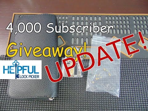 [136] HelpfulLockPicker 4,000 Subscriber Giveaway Update