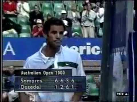 Pete Sampras great shots selection against Slava Dosedel (Australian Open 2000 4R)