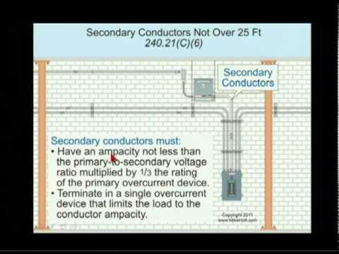 Nec Transformer Secondary Conductors 240 21 C 6