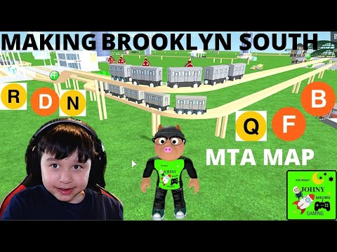 Johny Builds MTA South Brooklyn Subway Lines In Toy Train Tycoon Train SImulator |