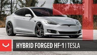 Vossen Hybrid Forged HF-1 Wheel   Tesla Model S   Tinted Matte Gunmetal