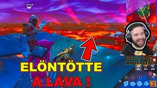 ELÖNTÖTTE A LÁVA A MAPOT ! | Fortnite THE FLOOR IS LAVA ! | ÚJ LTM REAKCIÓ w/ ZsDav
