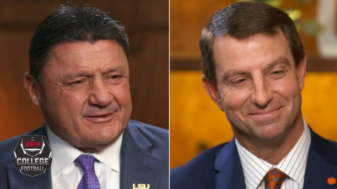 Ed Orgeron and Dabo Swinney exclusive ESPN interview ...