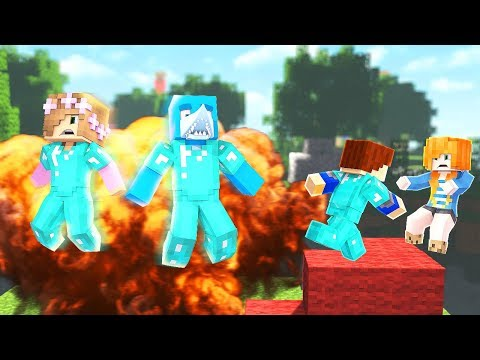 THE ULTIMATE DEFENCE FAIL !! Minecraft BED WARS w/ Sharky little Kelly and Scuba Steve