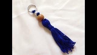 Diy Easy Tassel keychain From Thread | diy gift | Diy bag hanger |How to make Easy key chain at home