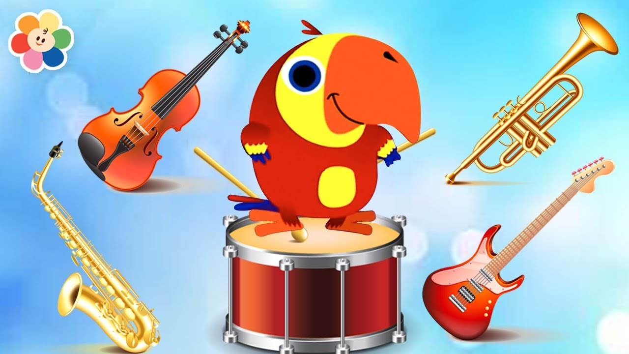 Learn Music Instruments Names With Funny Larry Surprise Eggs | Drums,  Guitar, Trumpet & More!