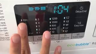Hướng dẫn sử dụng máy giặt cửa trước Samsung Eco Bubble 9kg