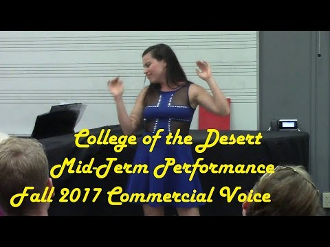 Commercial Voice Midterm Final (Live Performance) College of the Desert Fall 2017