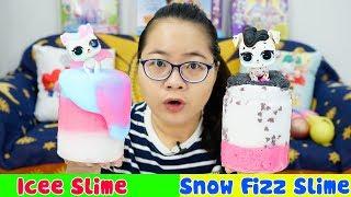 Thử Thách Làm Slime Theo Charm LOL - Icee Slime + Snow Fizz Slime