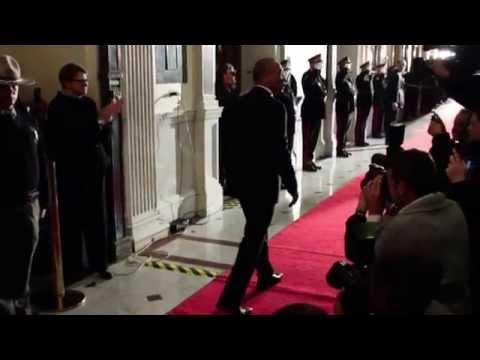 Lone Walk: Gov. Deval Patrick leaves the executive suite