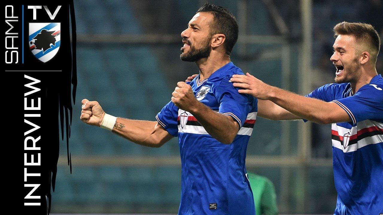 Sampdoria-Inter, Quagliarella: «Un gol per la gente» - YouTube