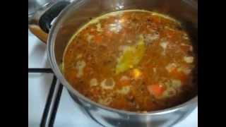 """Это ОЧЕНЬ  вкусный, быстрый суп с красной """"персидской"""" ЧЕЧЕВИЦЕЙ."""