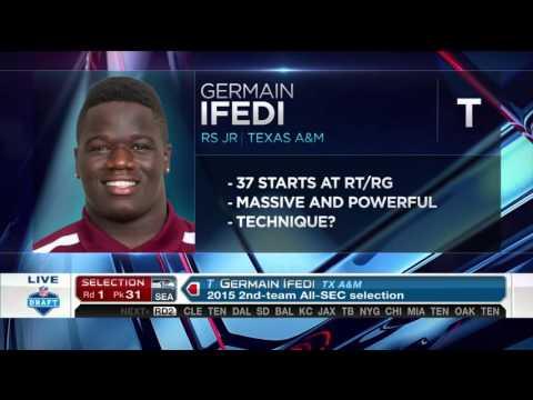 2016 NFL Draft Rd 1 Pk 31   Seattle Seahawks Select OT Germain Ifedi