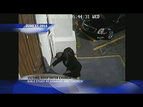 Roof trial: Surveillance video shows victims entering church