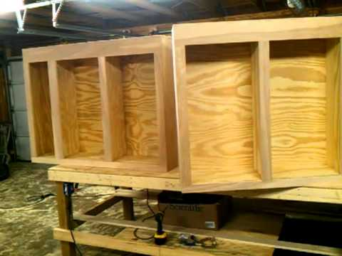 Homemade cabinets DIY NOT A TUTORIAL  YouTube
