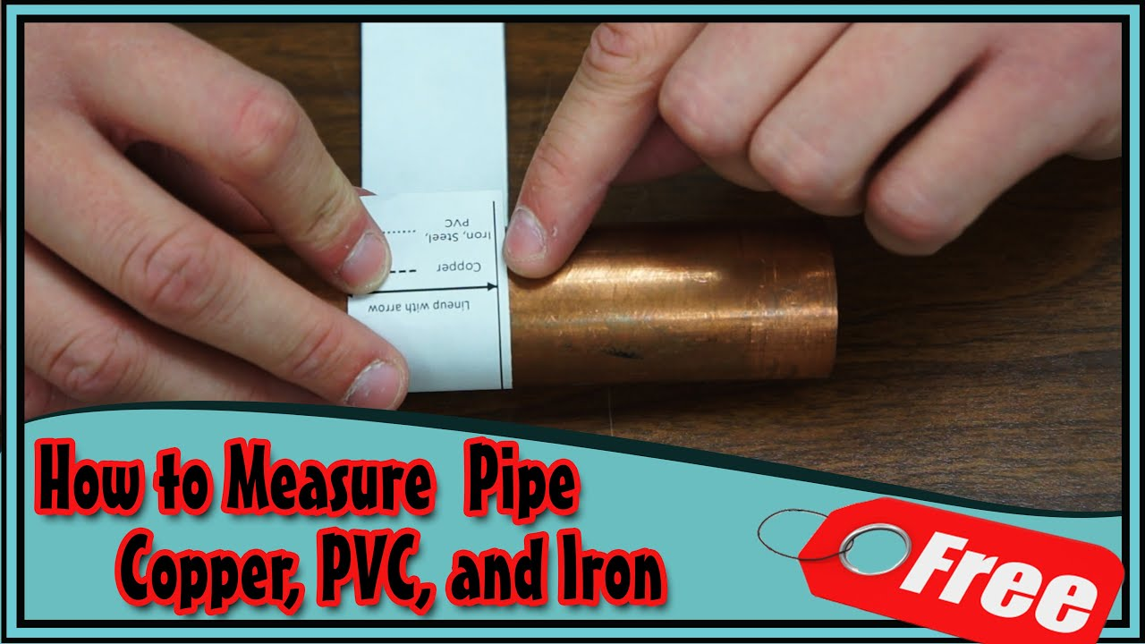How to Measure Pipe Diameter Size Free Tool Download! - YouTube