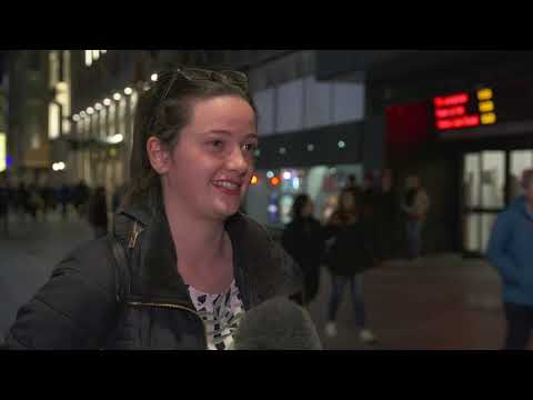 Cinema-goers give their reaction to unplanned