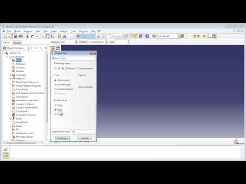 Static Analysis of a 2D Truss - YouTube