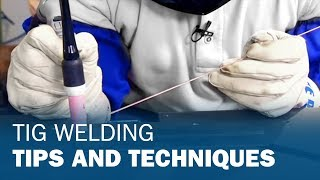 Miller TIG Welding Techniques(Product Manager, John Swartz, addresses some common questions we get at trade shows. Specifically; Torch Angle, Tungsten Grinding and Stainless Steel., 2011-01-21T17:00:51.000Z)