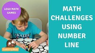 Lego Math Games For Kids   Number Line Math Challenge