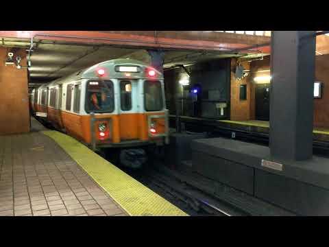 MBTA Orange Line at Tufts Medical Center in 4K