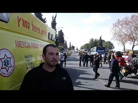 Ramming terrror scene in Jerusalem (Filmed by MDA)