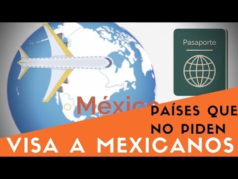 Países que no Piden Visa a Mexicanos que viajan en Calidad de Turistas