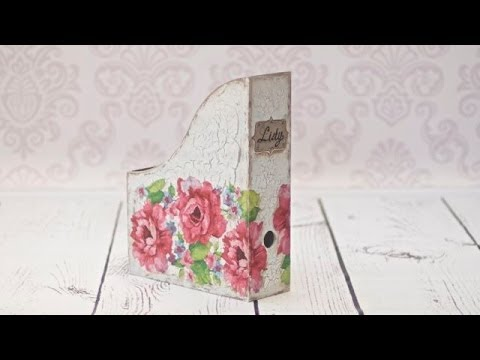 How to decorate a wooden box for documents decoupage ------   DIY By Catherine  :)