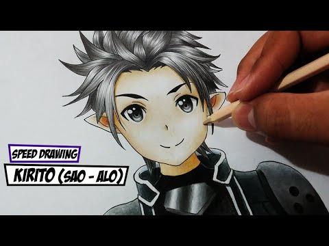 Speed Drawing Kirito Sword Art Online (SAO / ALO)