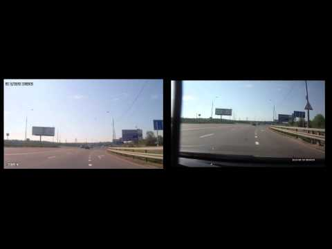 GS1000 Blue Menu Dash Cam Left Vs GS1000 Orange Menu Dash Cam Right