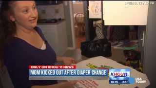 Mom kicked out of restaurant for diaper change thumbnail