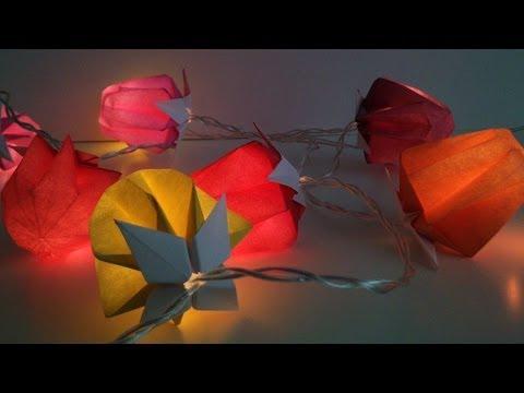 Faire une lanterne chinoise avec des assiettes en carton doovi - Fabriquer une guirlande electrique ...