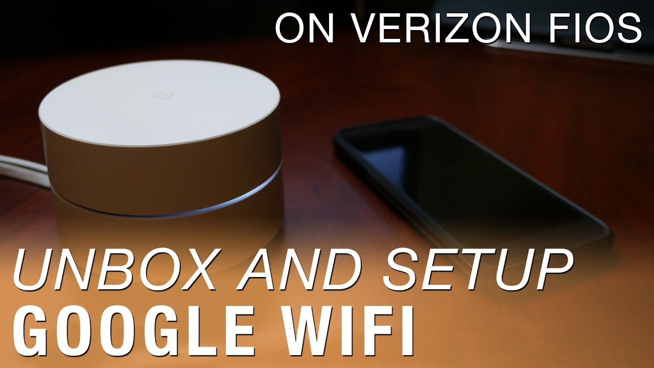 google wifi unboxing and setup on verizon fios [ 1280 x 720 Pixel ]
