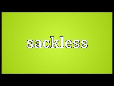 Header of sackless