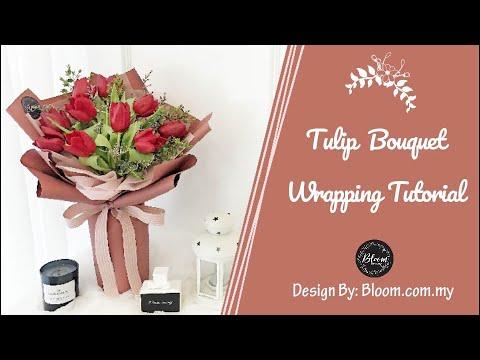 tulip-hand-bouquet-wrapping-tutorial---how-to-use-korean-wrapper-||-cara-membuat-buket-bunga-korea