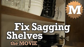 Fix Sagging Shelves The Movie A Winter Snow Day Project Youtube