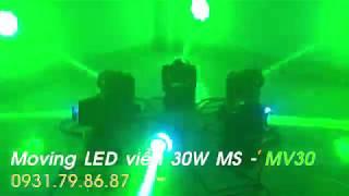 Đèn moving head mini 30W viền LED giá rẻ
