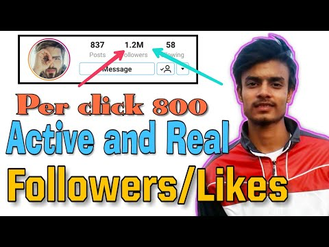 How to increase Real Followers on instagram | 1 hour increase 1000 INSTAGRAM Followers | 10000%