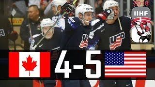 Canada vs USA | 2018 IIHF Worlds Highlights | May. 4, 2018