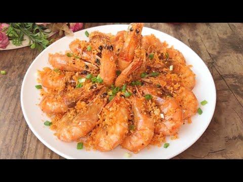 大虾的做法,金黄酥脆,口感鲜美,越嚼越香
