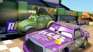 Purple Chick Hicks VS Shifty & Lightning McQueen Disney Cars 3 Race Challenge Gameplay