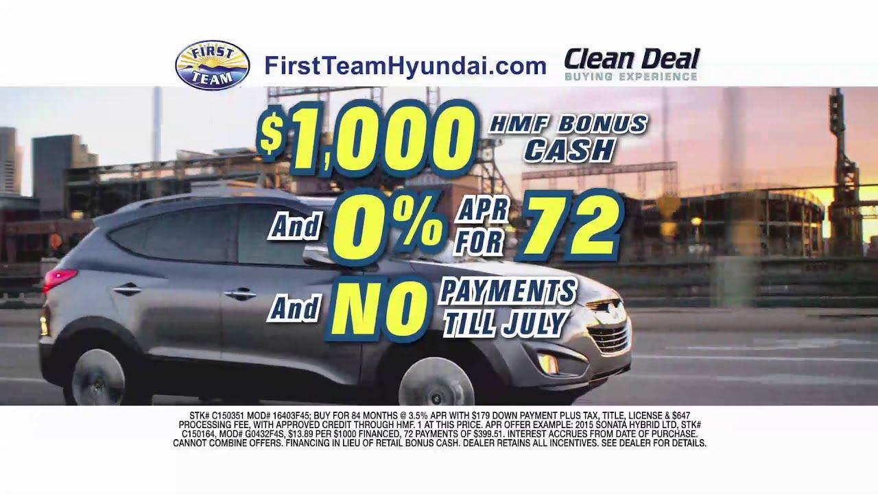 First Team Hyundai Clean Deal Buying Experience