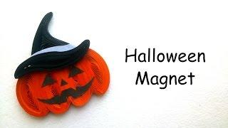 Halloween Gift Ideas - Quilling Halloween Pumpkin Magnet