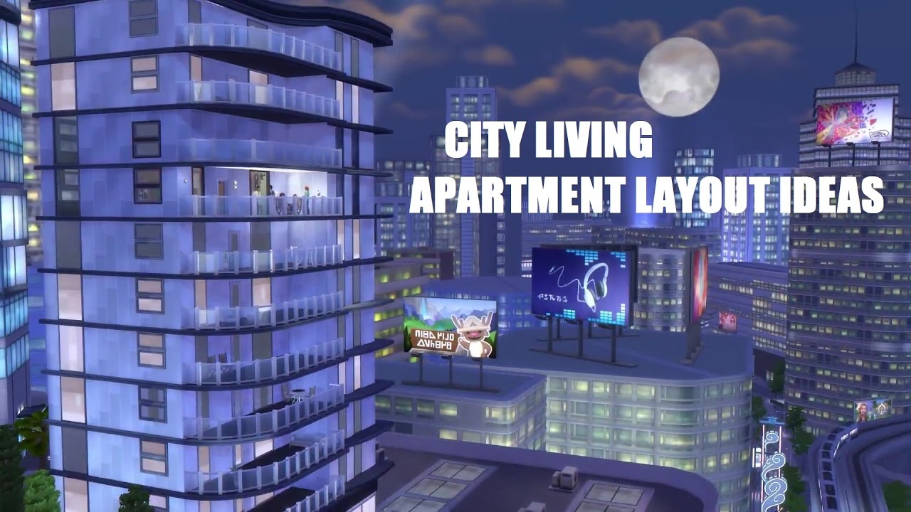 The Sims City Living Five Ideas For Apartment Layouts Youtube