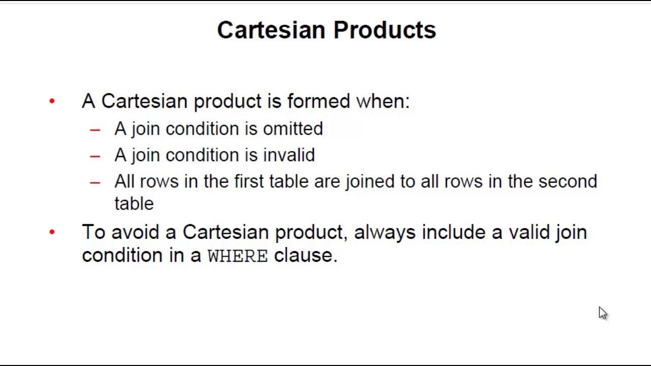 Sql tutorial cartesian product cross invalid join youtube gamestrikefo Choice Image