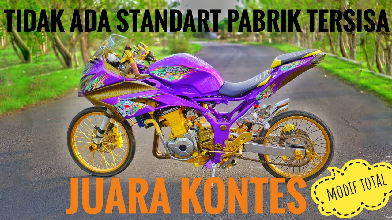 Review motor kawasaki ninja 250 fi jari jari full modif (motor kontes)