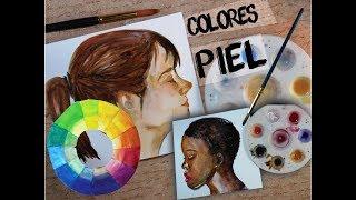 Como Hacer colores PIEL con Acuarela/ HowmakeSkinTones in Watercolor - Isabelle Art -