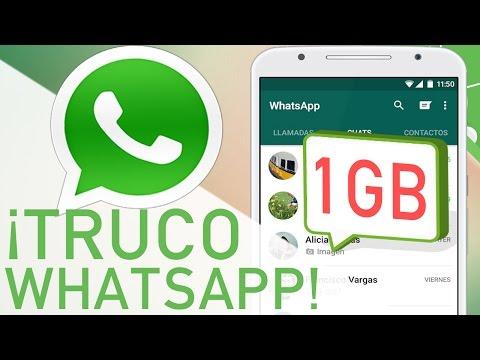 TRUCO WHATSAPP | Mandar Vídeos De Hasta 1GB